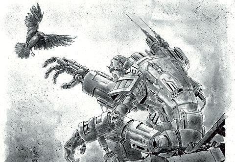 robot sci-fi art