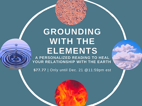 Grounding with the Elements Card Reading