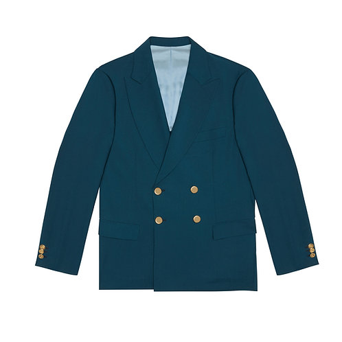 150'S PURE VIRGIN WOOL UNSTRUCTURED DOUBLE-BREASTED JACKET