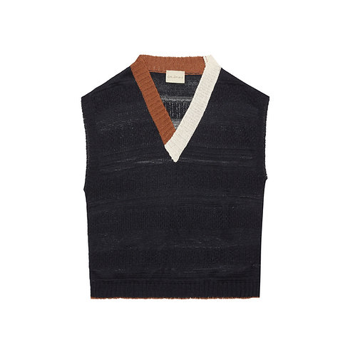 LINEN AND SILK SWEATER VEST
