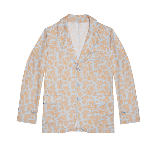 PRINTED COTTON-POPLIN PYJAMA JACKET