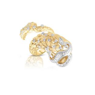 18k Yellow Gold Coy Fish ring