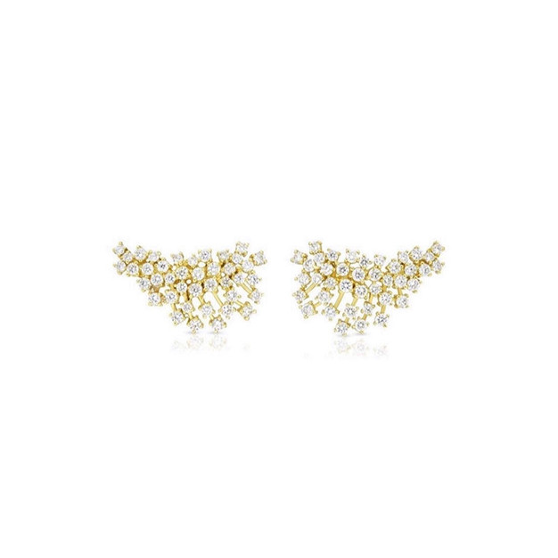 Earring Climbers - Yellow Gold
