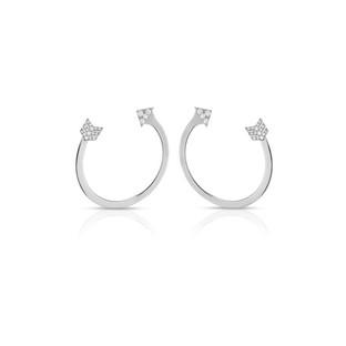 Arrow Earrings - White Gold