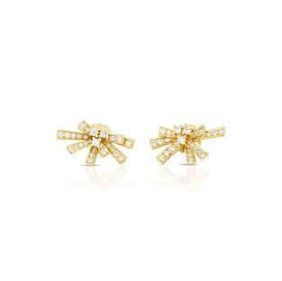 Modern Bow Earrings  - Yellow Gold