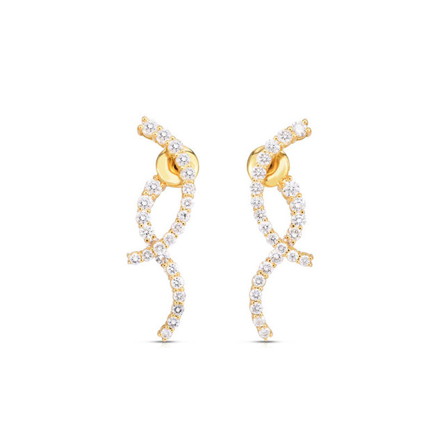 Modern Curve Earrings - Yellow Gold