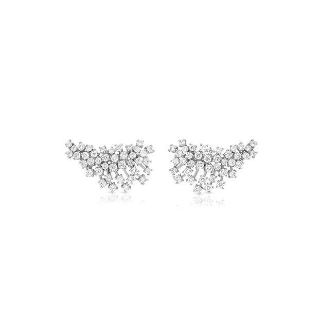 Earring Climbers - White Gold