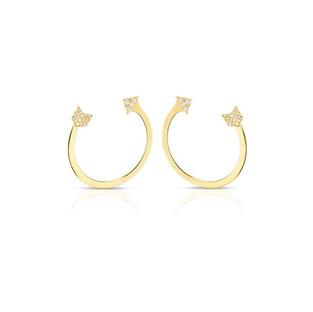 Arrow Earrings - Yellow Gold