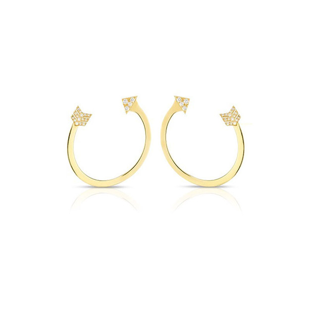 Arrow Earrings - Yellow Gold