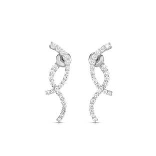 Modern Curve Earrings - White Gold