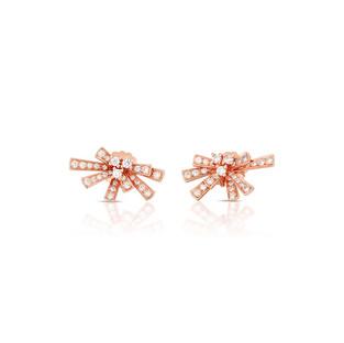 Modern Bow Earrings - Rose Gold