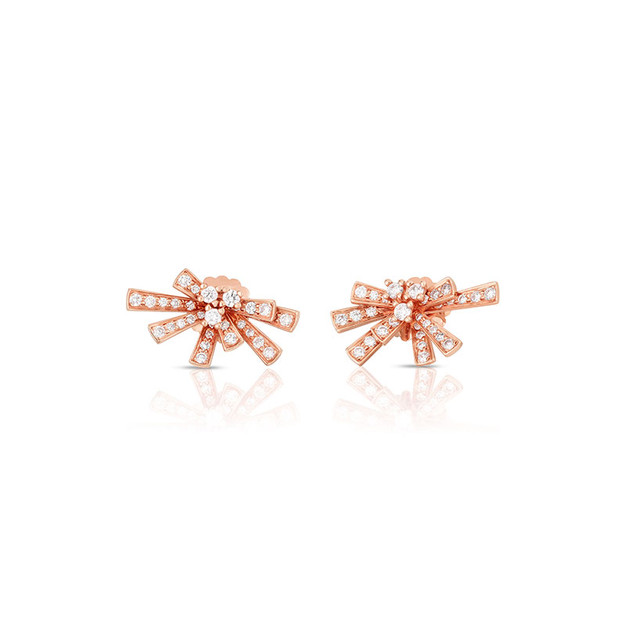 Modern Bow Earrings - Rose Gold