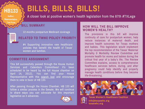 Bills, Bills, Bills: HB 133
