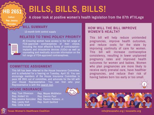 Bills, Bills, Bills: HB 2651