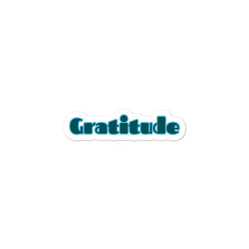 """Gratitude"" Bubble-free stickers"
