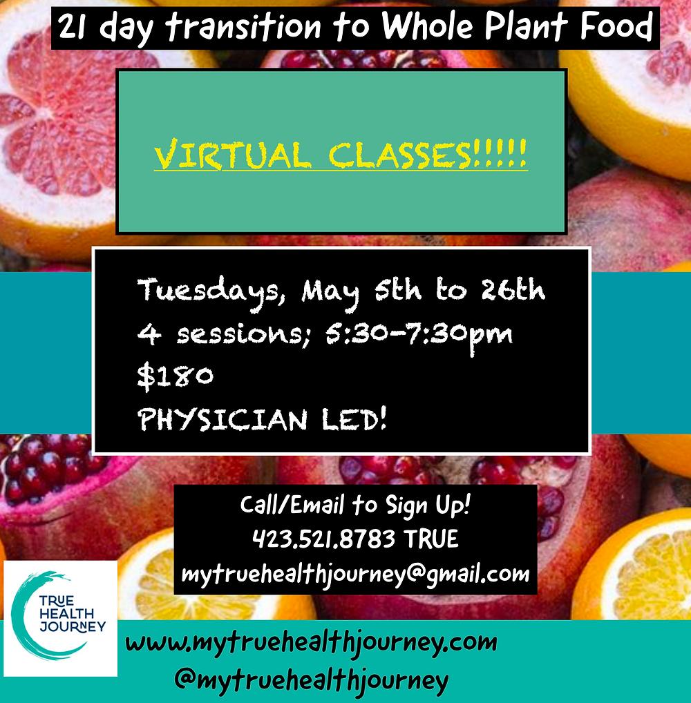 21 day kickstart, plant-based diet, online course