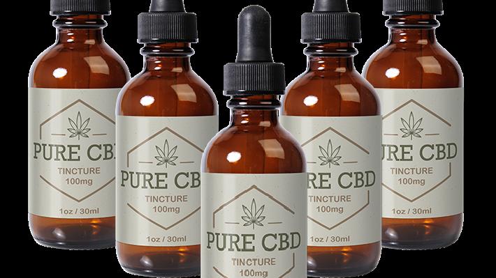 Pure CBD Oil 100mg - 5 Bottles