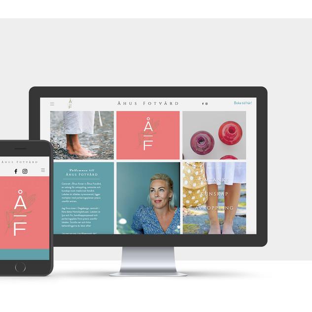 Website for Åhus Fotvård