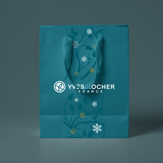 Designs for a Christmas bag for Yves Rocher