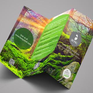 Environmental folder for Bong Retail Solutions