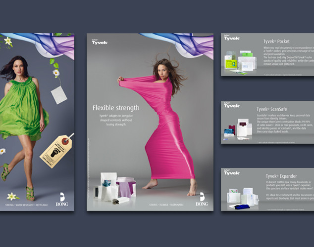 Ads and banners for Tyvek