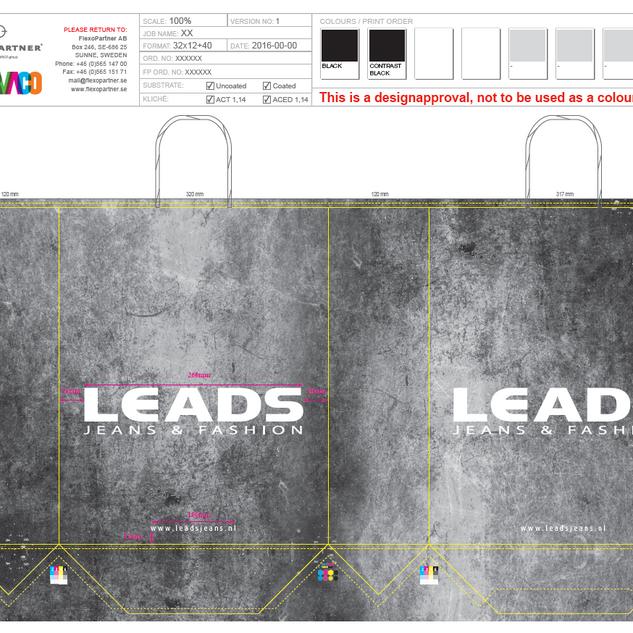 Design for Leads Carrier bag