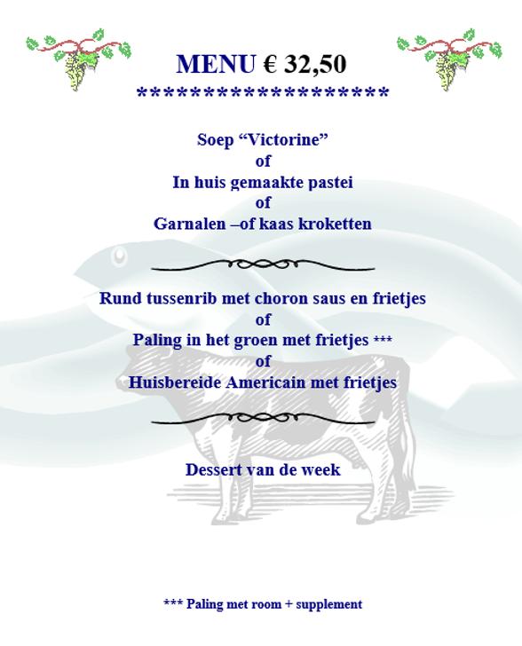 menu 32,50 €