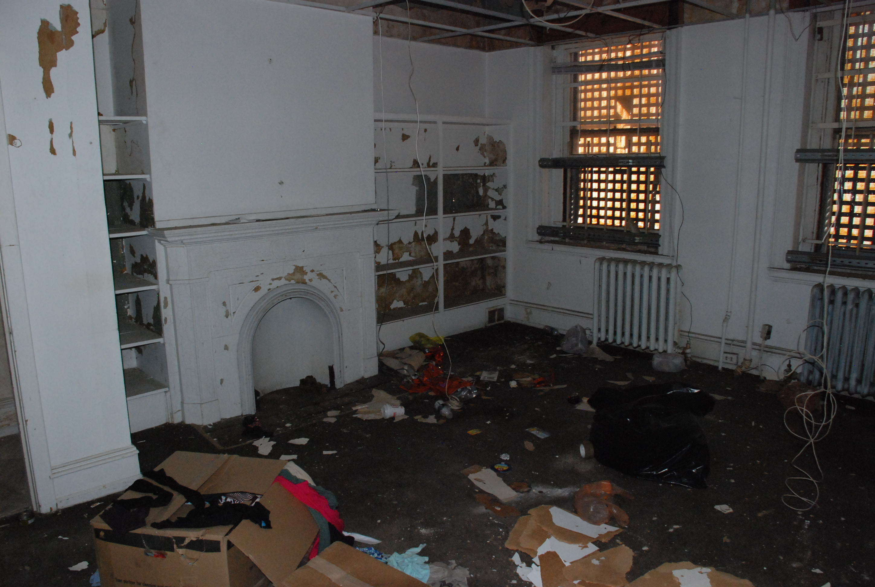 Rutgers Fireplace - Before