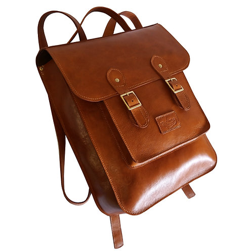 Mochila Satchel Versão N°1 Couro Line Store Leather - Cores Variadas