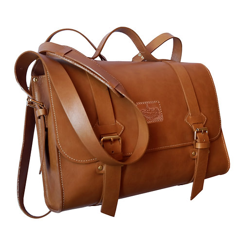 Oregon 3 em 1: Bolsa, Mochila e Pasta Line Store Leather - Cores Variadas