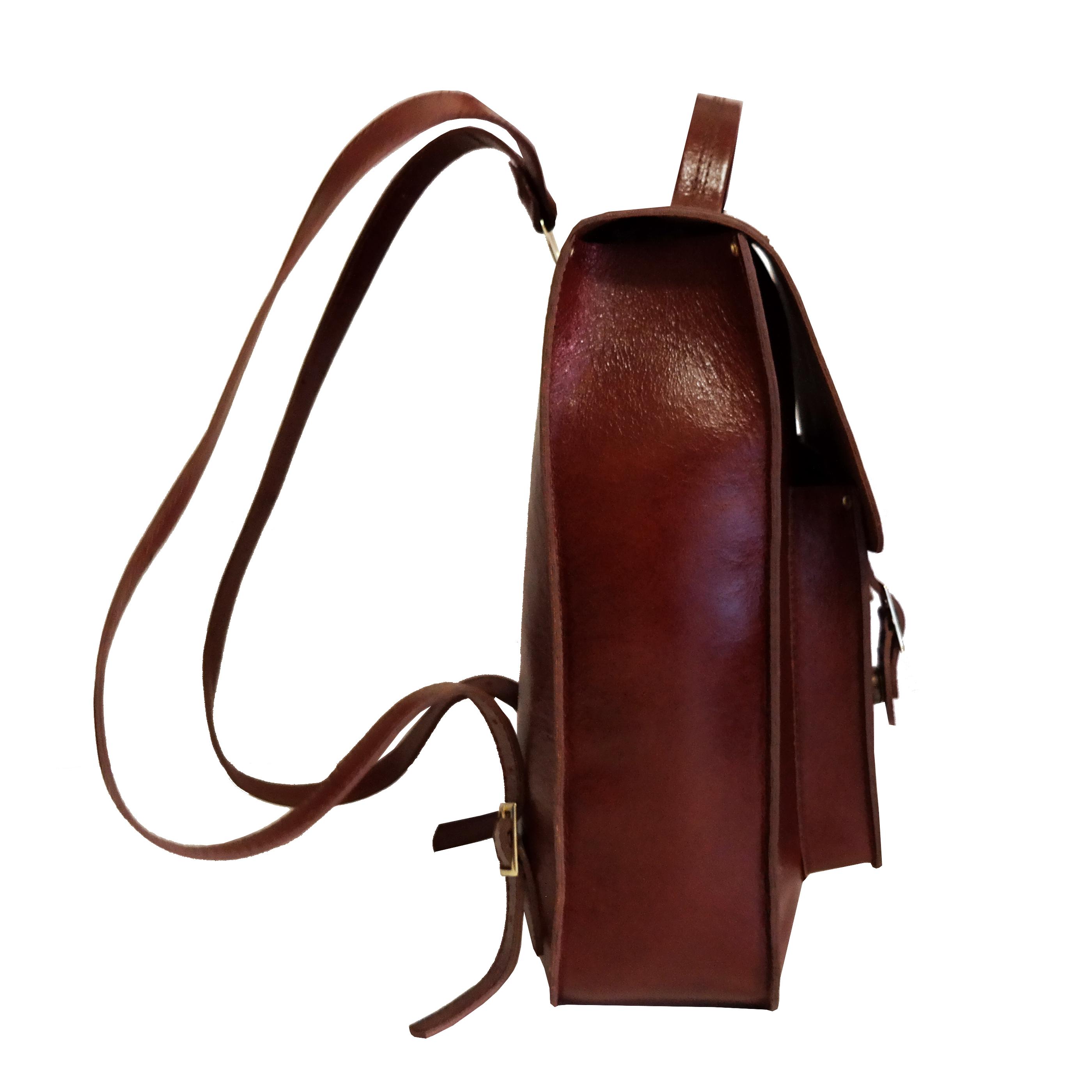 Mochila Couro Line Satchel Backpack