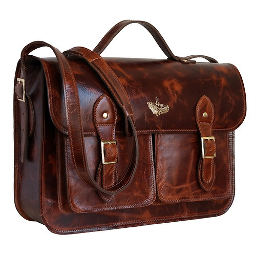 Bolsa e Pasta Satchel Pockets Line Leather Couro Premium
