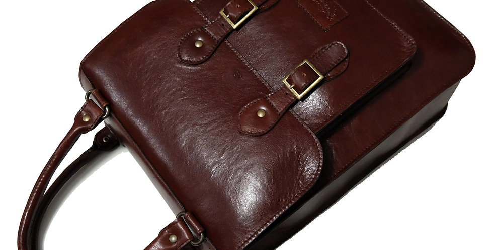 Bolsa Satchel Tote Bag Couro Line Store Leather - Cores Variadas
