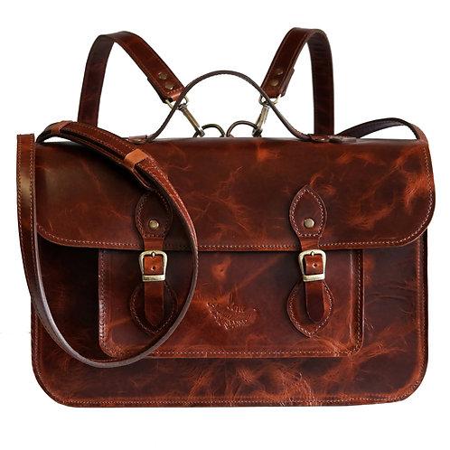 3 em 1: Bolsa, Mochila e Pasta Satchel  V2  Line Store Leather - Cores Variadas
