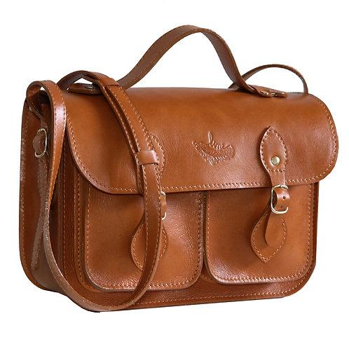 Bolsa e Pasta Satchel Pockets Line Store Leather Couro Whisky Rústico