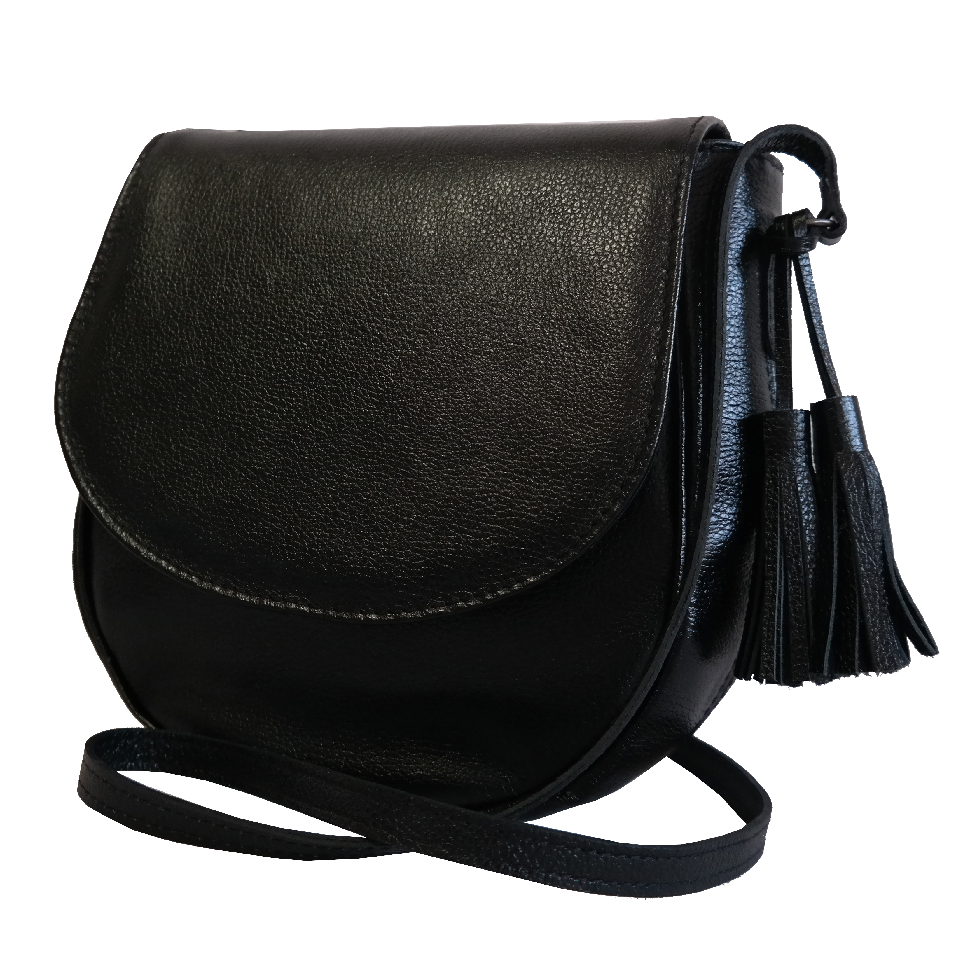 Saddle Bag Couro Preto