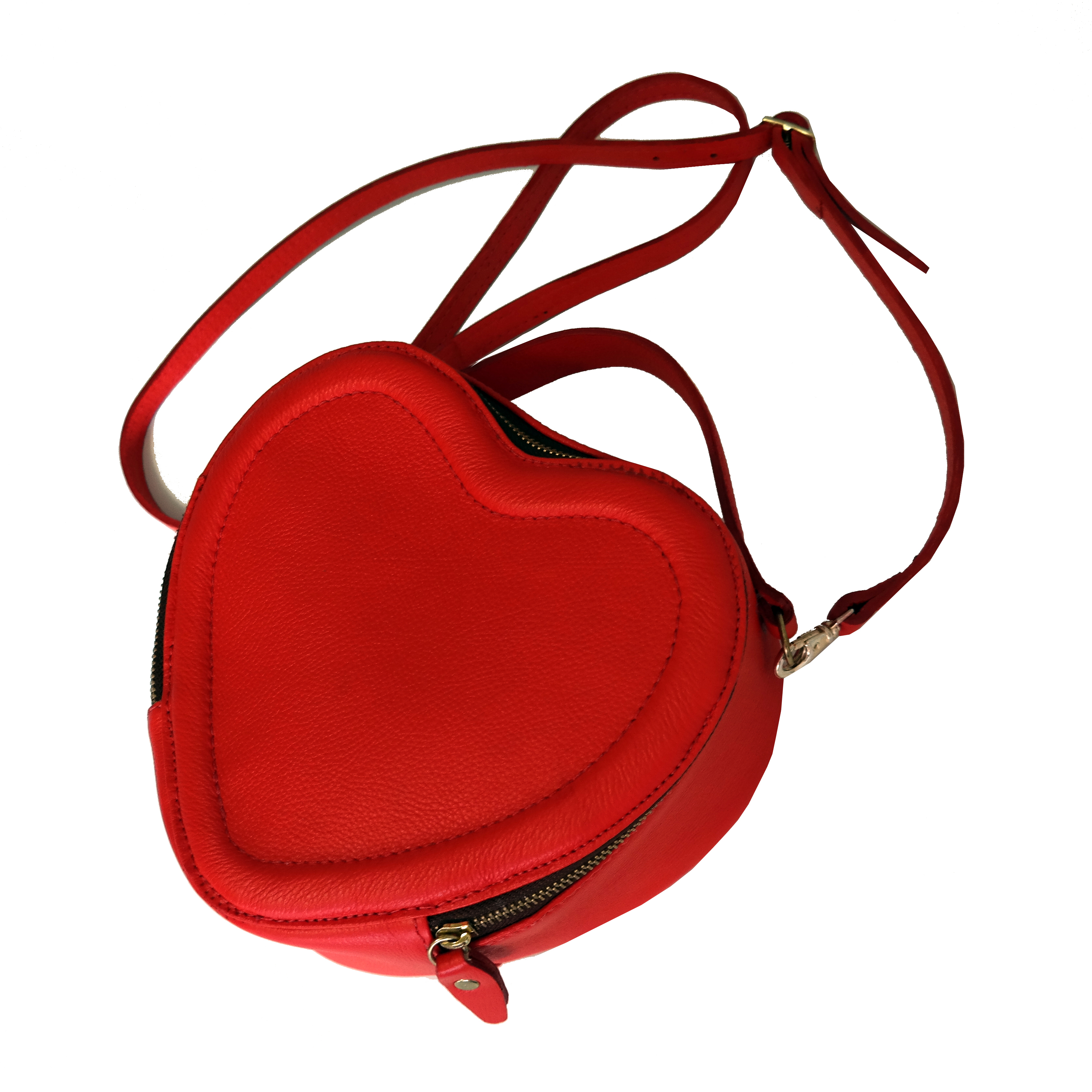 Bolsa Couro Heart Bag