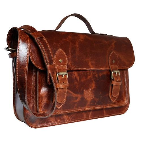 Bolsa e Pasta Satchel Clássica Line Leather Couros Linha Premium