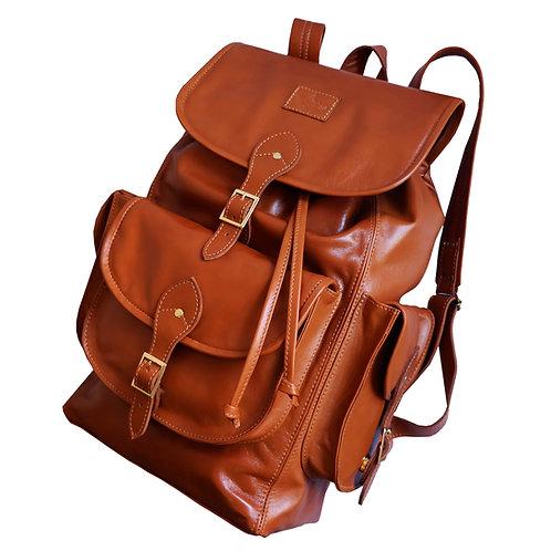 Mochila Wanderlust Couro Line Store Leather - Cores Variadas