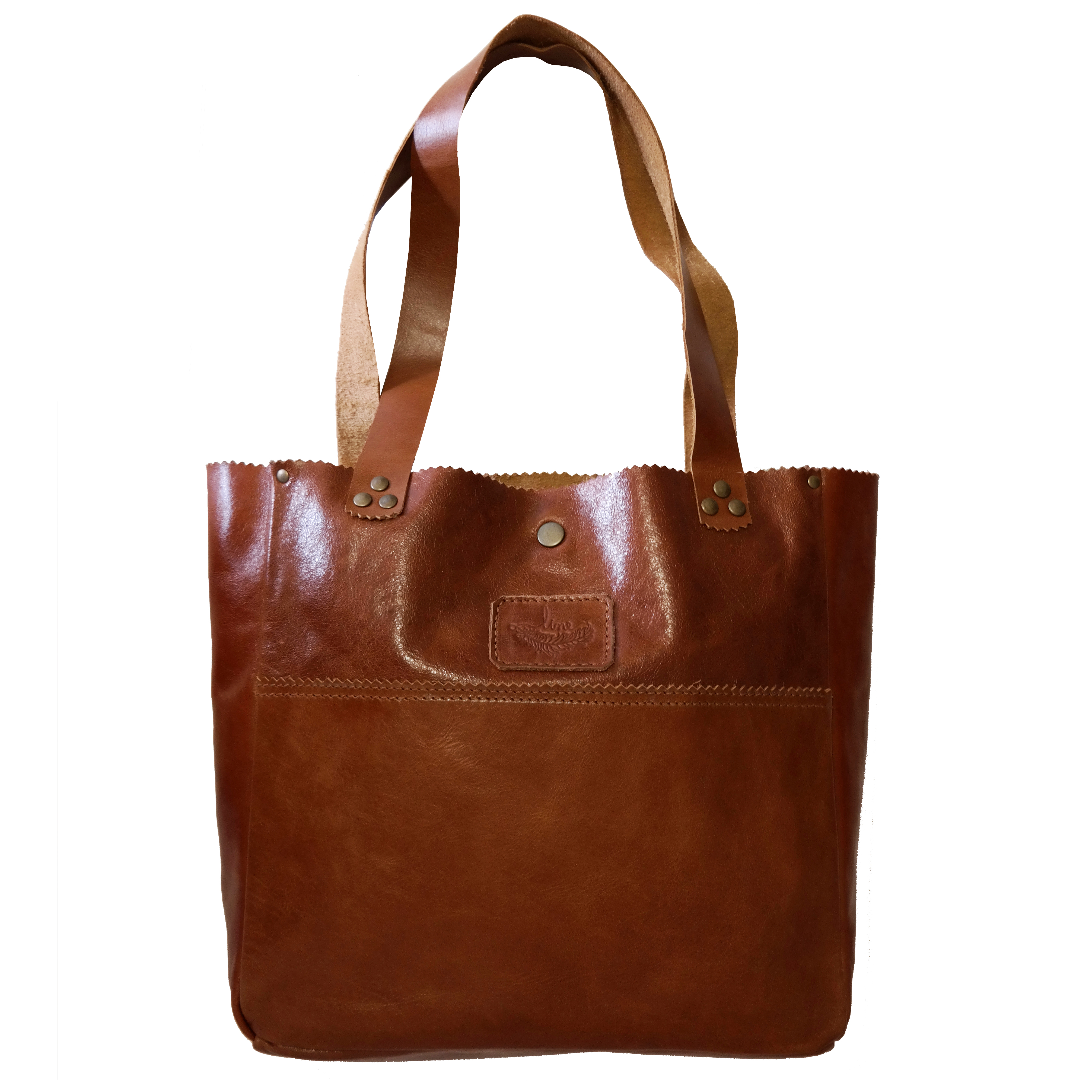 Shopping Bag Couro Whisky Rustico