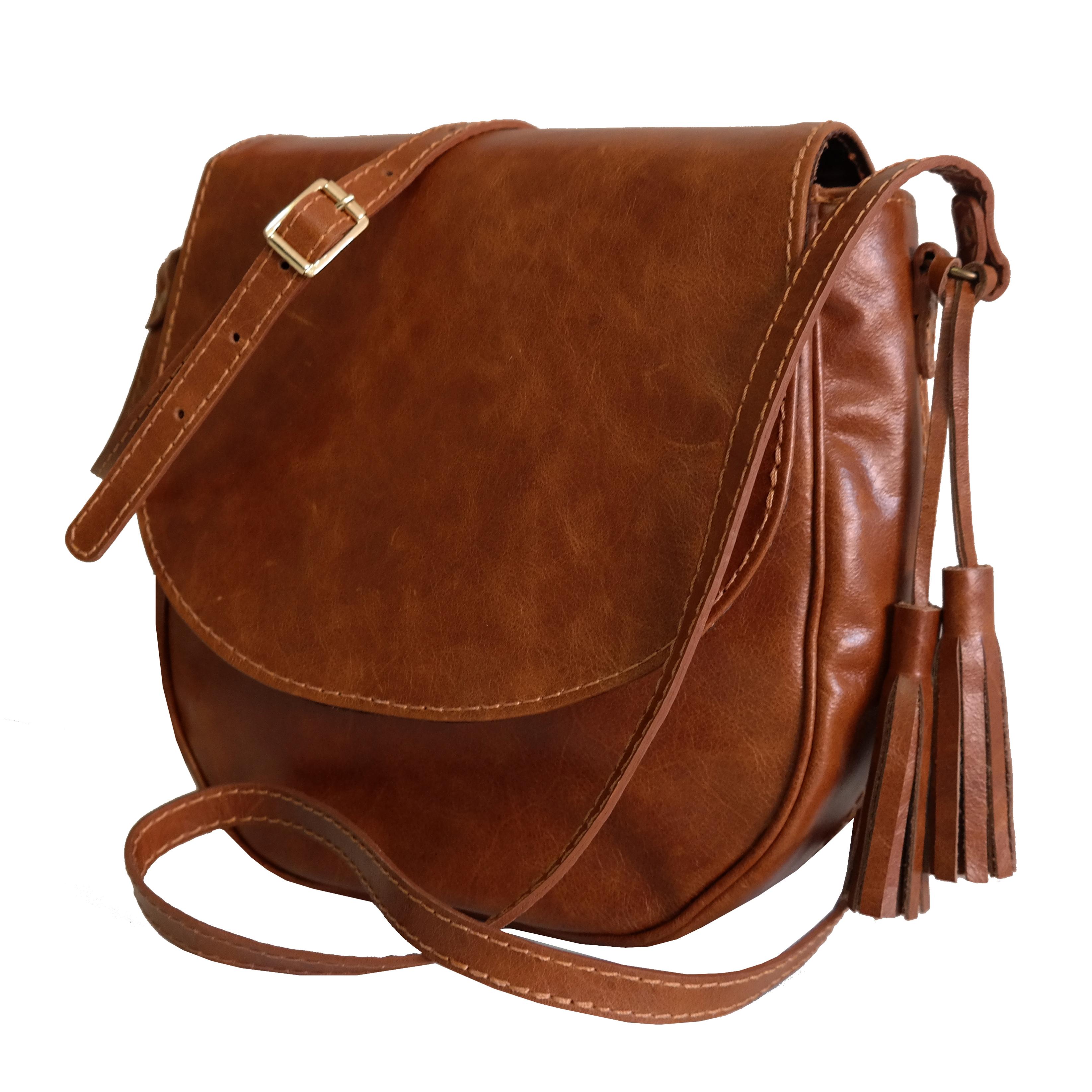 Bolsa Couro Saddle Bag