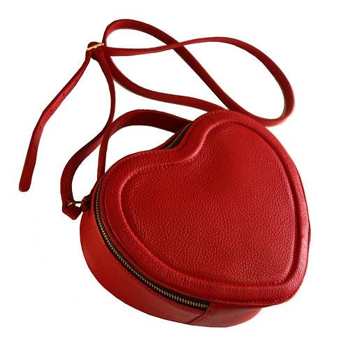 Bolsa Heart Couro Line Store Leather - Cores Variadas