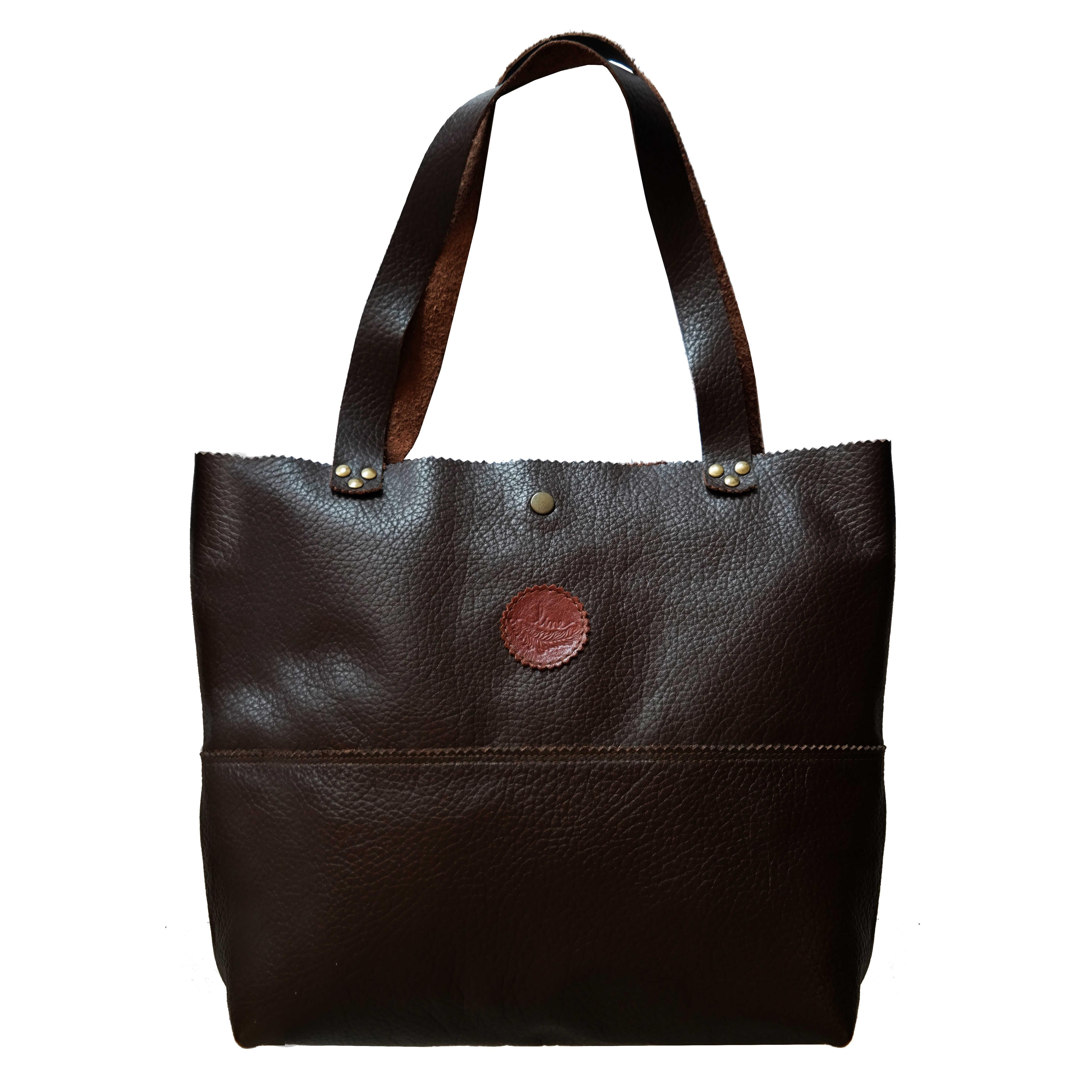 Shopping Bag Couro Floater Marrom