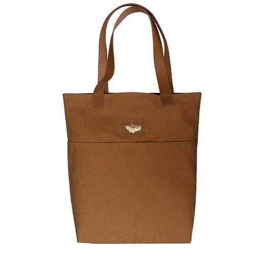 Bolsa Sacola Shopper N1 Tecido e Couro Line Store Leather - Cores Variadas