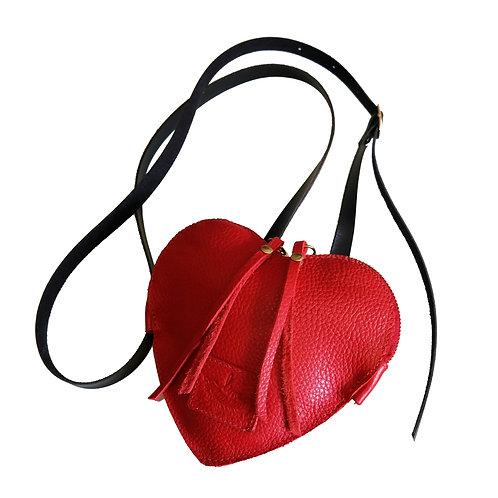 Bolsa / Pochete Mini Heartbag (3 em 1) Couro Line Store Leather - Cores Variadas