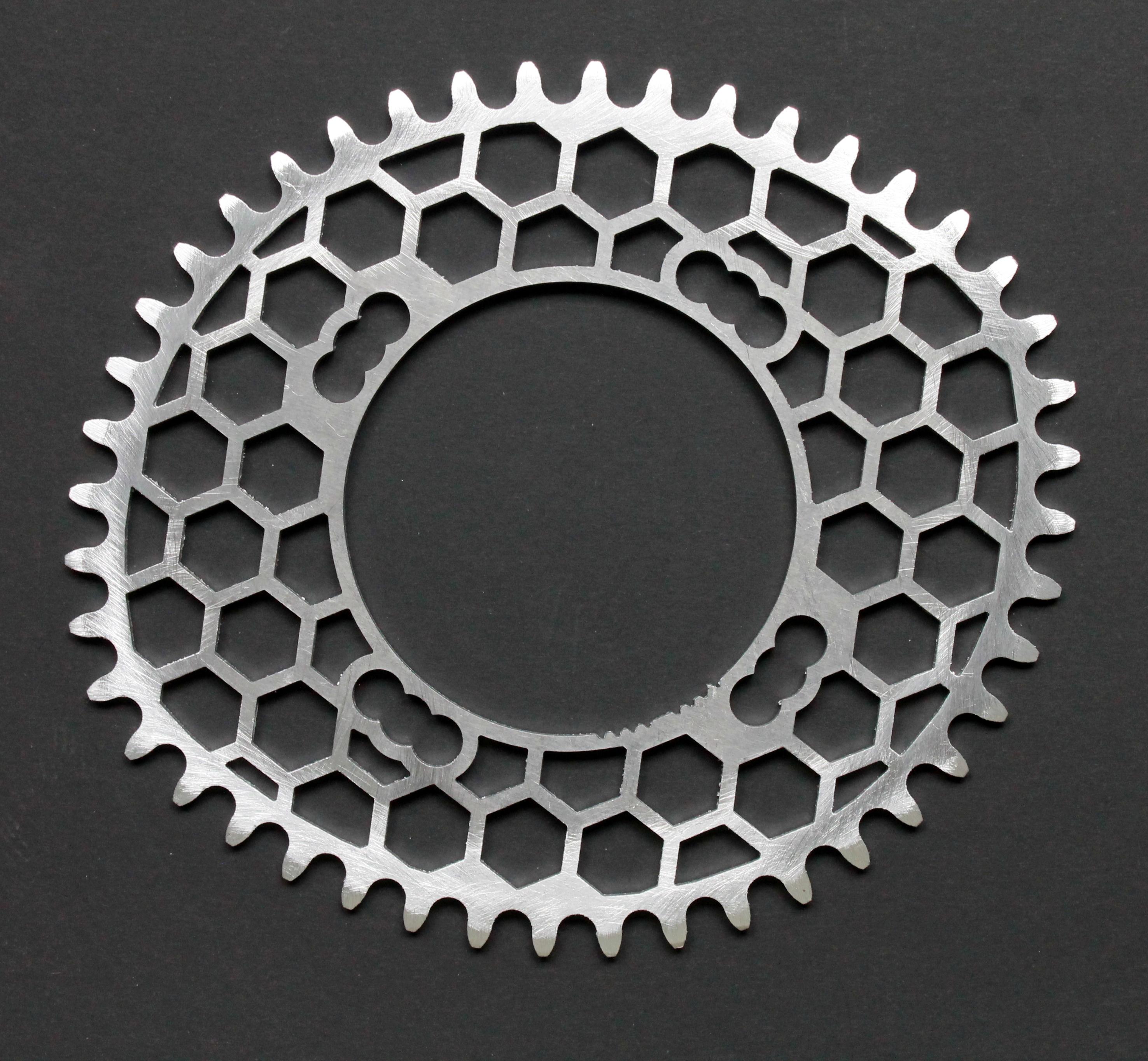 hexagon design oval chainring