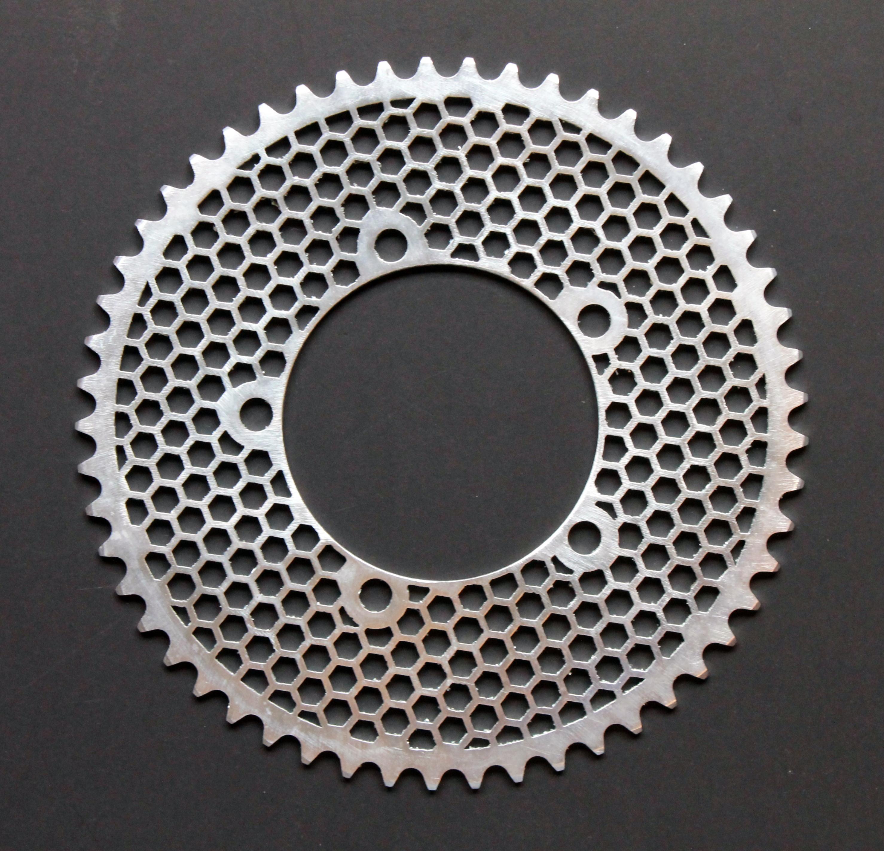 hexagon design round chainring