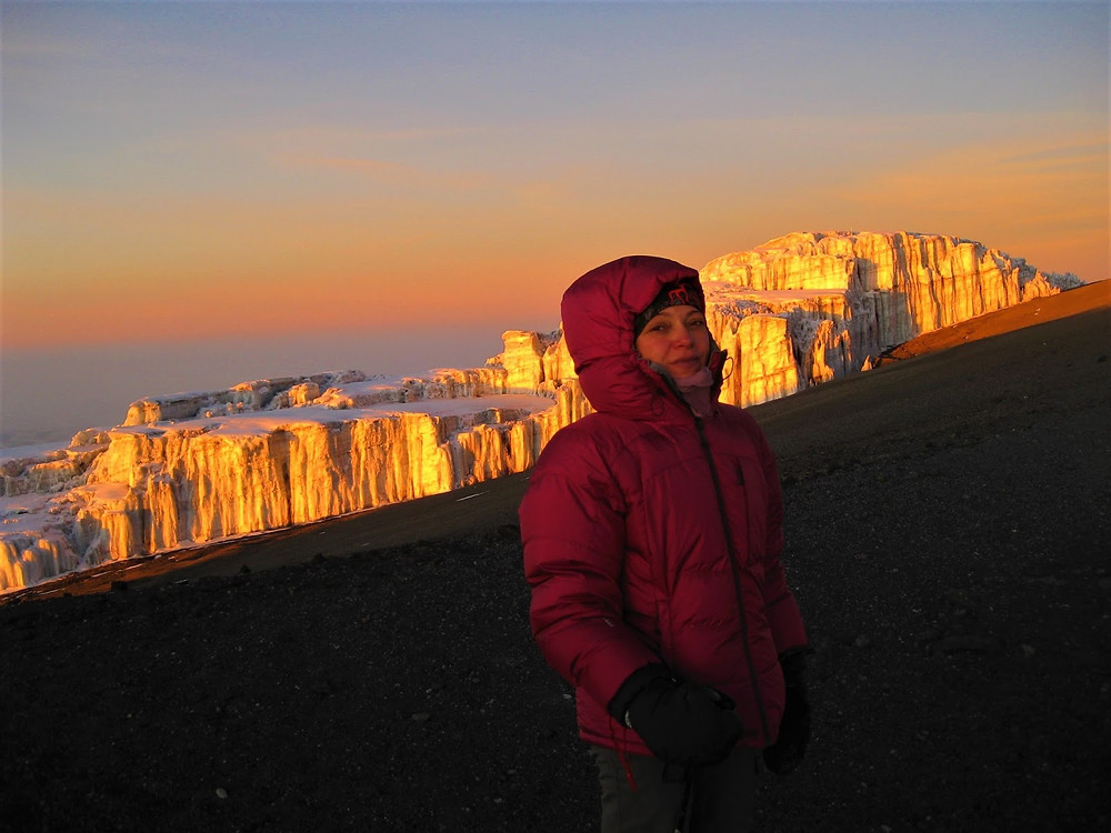 Kilimanjaro summit, zirve, buzul, kar, dağ.