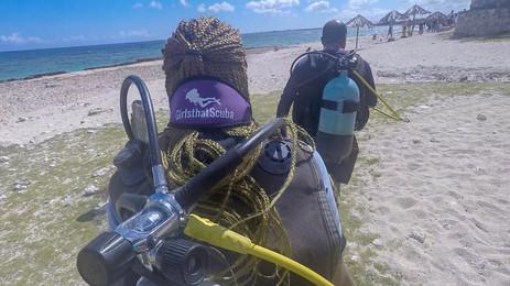 Scuba diving in Varadero, Cuba.