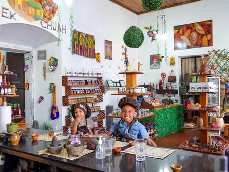 Ek Chuah Chocolate Making Class In Antigua, Guatemala.